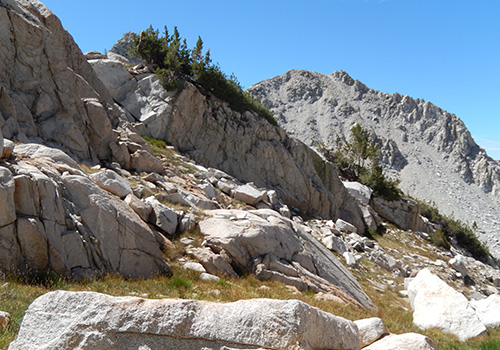 Below the western side of Bighorn Pass - a little gnarly