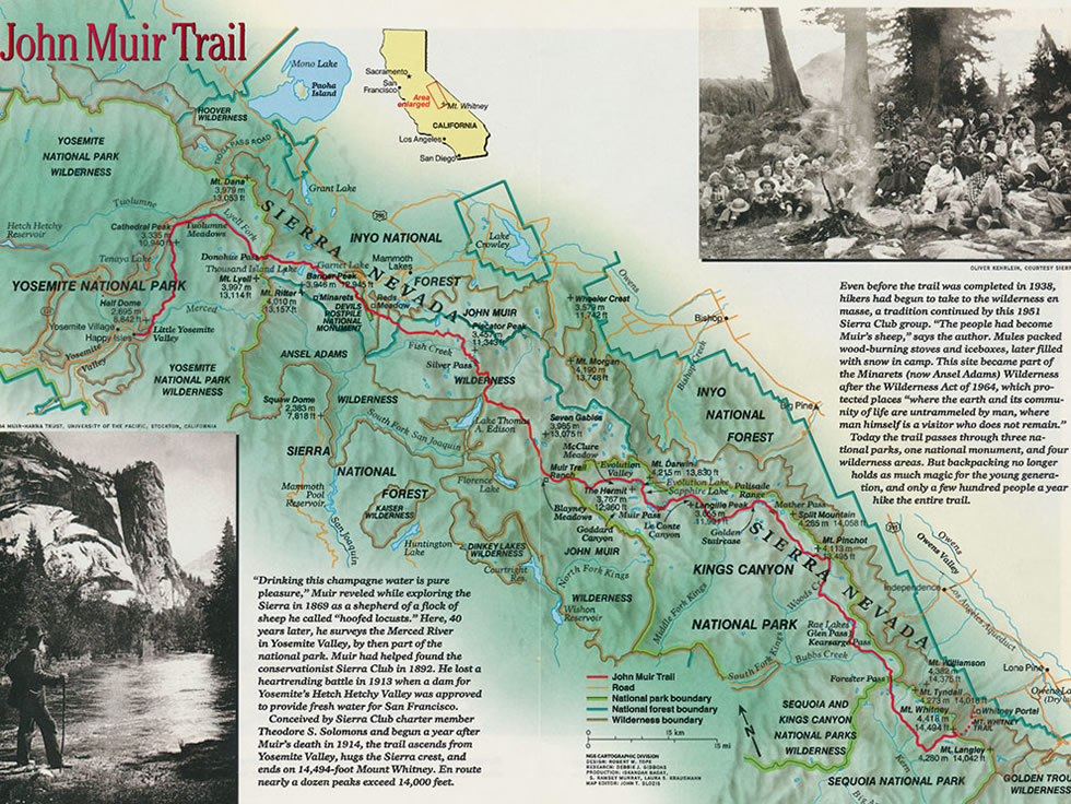 John Muir's Trail In History