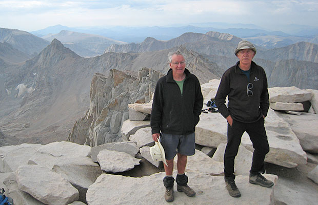 August 2007:  At the end of my JMT hike with Mike Fox - on the summit of Whitney.