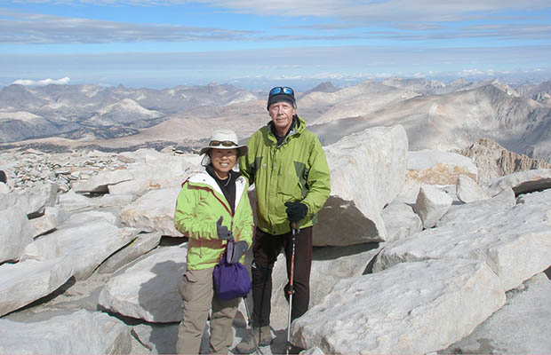 August 2012: At the end of the JMT with Jeanne Furukawa - on the summit of Whitney.