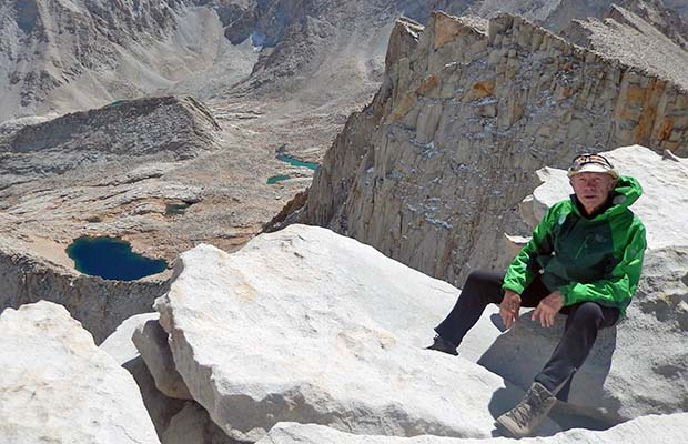 October 2013: At the end of the JMT [solo] - on the summit of Whitney.