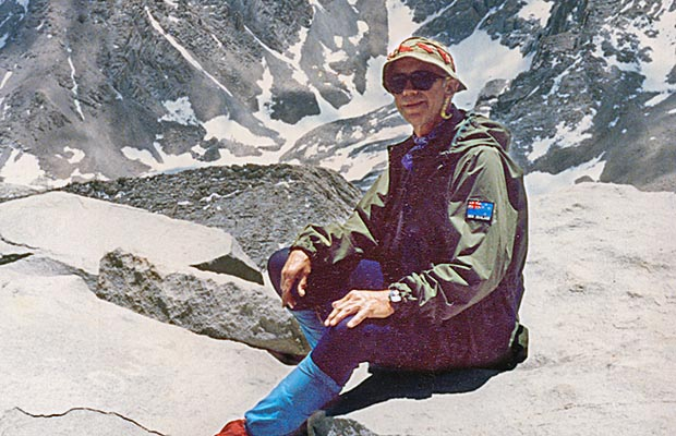 June 13, 1988, a happy little camper on Whitney summit.