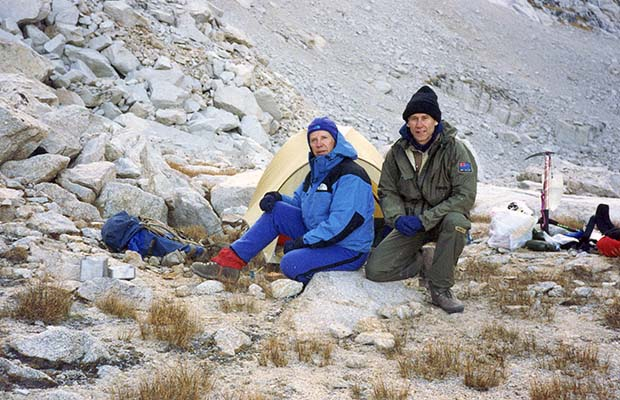 October 1991:  Self and Tony Dawson camped at Upper Boy Scout Lake.
