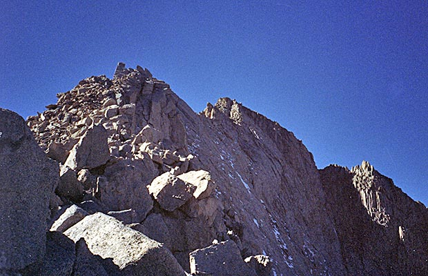 October 1991: Ascending [solo] the east ridge of Mt. Russell.
